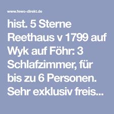 hist 5 sterne reethaus v 1799 auf wyk auf föhr 3