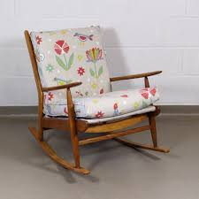 A 1950's Stylish Nursing / Rocking Chair In A Vintage 'Scandi' Fabric Floral Chair Covers Ebay Animal Print And Antique Ornate Carved Wooden Wingback W Monkey Elephant Upholstered Cushions Woodlands Peters Cabin Ding Pads Latex Foam Fill 28 Great Of Phomenal Prints Reversible Stripe Cushion Rocker Rocking Oooh Baby Harriet Bee Starla Whale Tales Kids Wayfair Ihambing Ang Pinakabagong Recliner Mat 1930s Vintage Saddle Levo In Beech Wood With Mmout Cloud Delta Children Emma Nursery Graphite