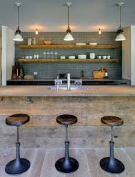 Kitchen Bar Shelves Contemporary With Open Shelving Rustic Wood