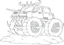 Fortune Grave Digger Coloring Page Pages Of Monster Trucks Kids 13 ...
