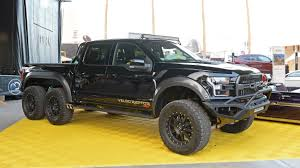 Hennessey VelociRaptor 6x6: SEMA 2017 Photo Gallery - Autoblog 2017 Velociraptor 600 Twin Turbo Ford Raptor Truck Youtube First Retail 2018 Hennessey Performance John Gives Us The Ldown On 6x6 Mental Invades Sema Offroadcom Blog Unveils 66 Talks About The Unveils 350k Heading To 600hp F150 Will Eat Your Puny 2014 For Sale Classiccarscom Watch Two 6x6s Completely Own Road Drive