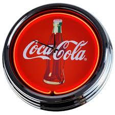 reklame werbung n 0216 wanduhr coke deko neonuhr
