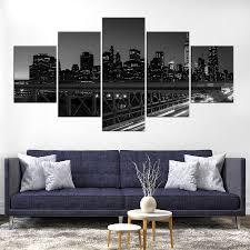 kunst black and white new york city bridge wall poster