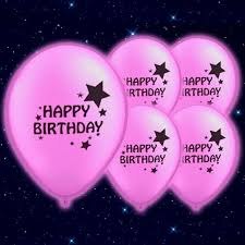 Happy Birthday Printed Pink 9 Inch Illoom Balloons