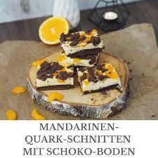 mandarinen quark schnitten mit schoko boden loui bakery