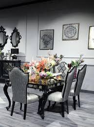 casa padrino luxus barock esszimmer stuhl set silber grau schwarz 55 x 55 x h 116 cm edles küchen stühle 6er set esszimmer möbel im
