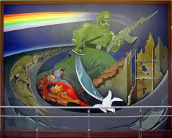 Big Ang Mural Petition by Mysterious Murals And Monuments At The Denver Airport Humans Are