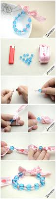 Follow Our Steps To Learn How Make A Bracelet With Ribbon And Beads We Hope That This Tutorial Inspires You Invent More Handmade