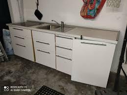 ikea küche inkl kochfelder kühlschrank spüle