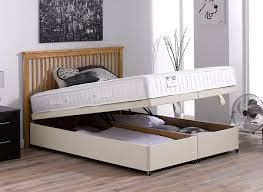 Super King Size Ottoman Bed by Kendall Pocket Spring Ottoman Bed Medium Beige