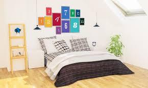 rahmen collage modell über schlafzimmer interieur premium