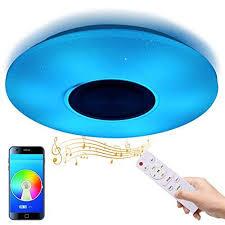 tycolit led deckenleuchte bluetooth lautsprecher mit app fernbedienung 36w farbwechsel dimmbar 3000 6500 rgb led musik deckenle kinderzimmer