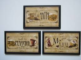 Wall Decor Plaques 3 Piece Set Mocha Latte Espresso Tuscan Style Kitchen To View Further For This Item Visit The Image Link