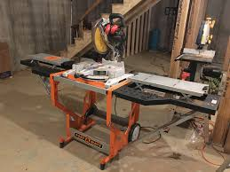 Opened Up The Portamate Portacube Offers A Stable Stand For Most Miter Saws With Adjustable