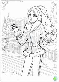 Christmas Barbies Colouring Pages