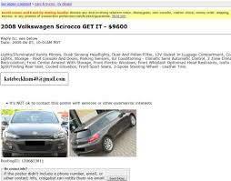 Craigslist Scam Of The Day: 2008 VW Scirocco Coupe For $9,600 Craigslist Ladelphia Fniture Utah Used Cars Search All Of Ut For Best Med Heavy Trucks For Sale Pladelphia And Trucks By Owner Image 2018 Craigslist Scam Ads Dected On 02212014 Updated Vehicle Vintage 11967 Eseries E100 Truck Classifieds Classic Ford Update2 Scams Google Wallet Palm Beach County Florida For Sale By Top Tips Find Deals On Cl Youtube 11th Street Auto Sales Ladelphia Pa Dealer