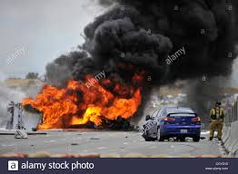 100 Tanker Truck Explosion May 28 2010 Corona California US A Tanker Truck Overturned