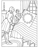 Flag Day Coloring Page 2