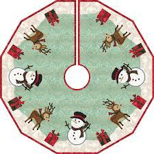 Frosty Christmas Tree Skirt Kit