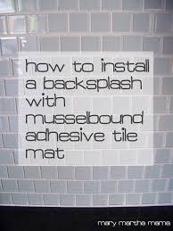 Tile Adhesive Mat Vs Thinset by Backsplash Tile Adhesive Tape Khabars Net