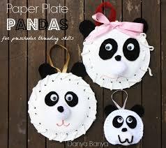 Make Some Paper Plate Pandas For Preschooler Threading Skills