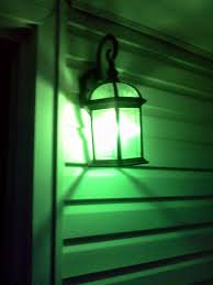 don t forget to replace your porch lights with a green bulb this