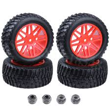 100 Rims Truck 4 Pieces 94mm Rubber 22 RC Pull Rally Tires Wheel