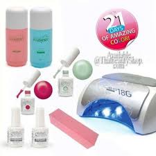 gelish nail kit with led l best nails 2018
