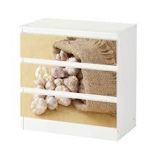 set möbelaufkleber für ikea kommode malm 3 fächer schubladen knoblauch sack gemüse küche aufkleber möbelfolie sticker ohne möbel folie 25c1296