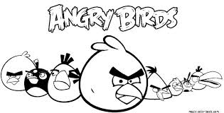 Angry Birds Free Online Coloring Pages For Kids