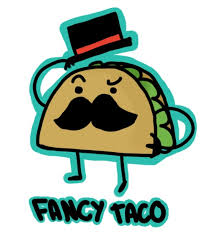 Fancy taco cartoon Tacos
