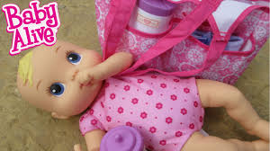 Neuman Christmas Tree Bags by Baby Alive Luv N Snuggle Baby U0026 Diaper Bag Youtube