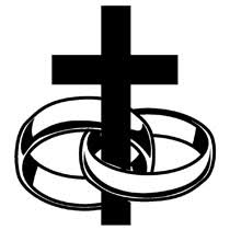 Wedding rings intertwined clipart
