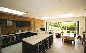 A New Kitchen Dining And Living Space Features In This Extension To Semi Detached