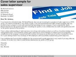 2 Cover Letter Sample For Sales Supervisor