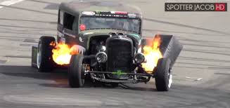 The FLAMETHROWER RAT ROD Epic Drift Show - Top Hot Cars