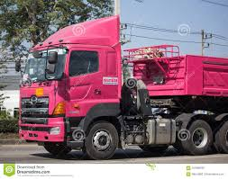 100 Pink Dump Truck Of Thanachai Company Editorial Photo Image Of Freight