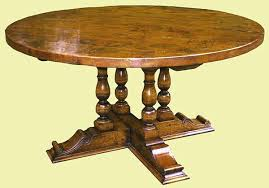 Oak Table Legs Round Dining With Carved