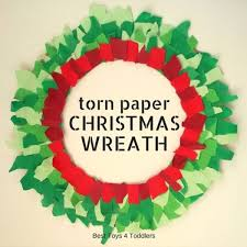 Crafting Christmas Wreath From Torn Paper Scraps Kids