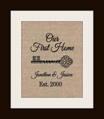 New Home Housewarming Gift Our First Sign House Warming Personalized Address Homeowner Closing Gifts
