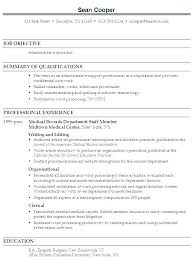 Resume Example For Administrative Assistant Executive Resumes Legal Senior