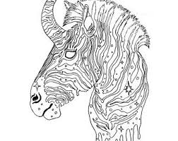 Printable Coloring Page Zebra Corn Instant Download