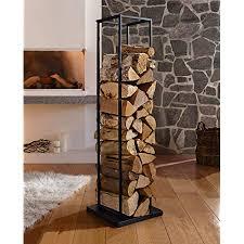 en casa kaminholzregal aus stahl 40x150x25cm brennholzregal