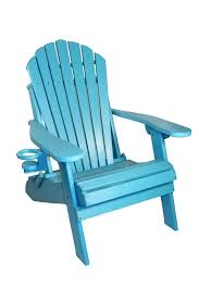 new deluxe outer banks poly wood folding adirondack chair with cup