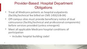 Provider Based Status A Compliance Department Case Study Lessons L
