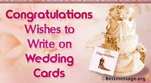 Wedding Wishes To Write In A Card