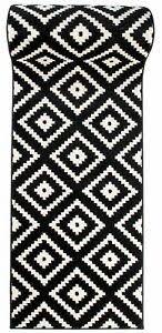läufer teppich schwarz weiß modern muster 60 70 80 90 100