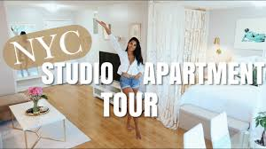 100 Munoz Studio NYC STUDIO APARTMENT TOUR Nathalie Muoz YouTube