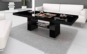 hu design couchtisch tisch hn 777 hochglanz höhenverstellbar ausziehbar esstisch schwarz hochglanz