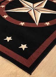 5 X 7 Texas Western Star Rustic Cowboy Decor Area Rug